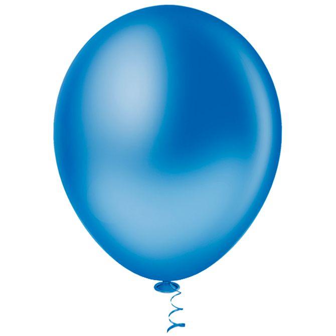 Balão 16 Liso Azul Escuro - 12 unidades